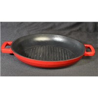 28CM Enameled Cast Iron Round Griddle