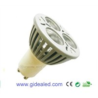 3W GU10 LED Lamp 3*1W led spotlight