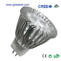 3W MR11 LED Lamp with 3pcs*1W CREE XP-E LED