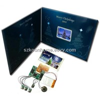 4.3 inch lcd video brochure for christmas