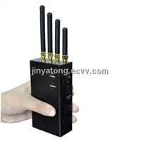4 Band 2W Portable WIFI and 3G Mobile Phone Jammer