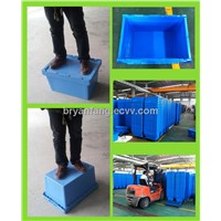 50L Stacking Plastic Storage Box with Lid