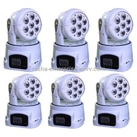 6X LOT White Case Factory Price e HOT 7* 12W 4IN1 RGBW High Brightness MINI LED Moving Head Wash