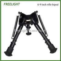 6-9 inch Harris Style mounting bi-pod Adjustable height extendable legs Hinged base