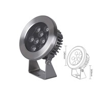 9W LED RGB high reliability LED underwater light CE RoHS approved