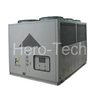 Air cooled low temperature screw chiller