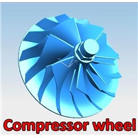 Aluminum alloy low pressure die casting compressor wheel