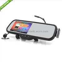 Android system car Rearview Mirror 5 Inch HD GPS Navigator+ Bluetooth headset+AV+DVR+Reverse camera