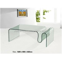 Bent Glass Coffee Table, Modern Living Room Furniture