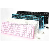 Boma-Kbn613 Brand 109 keys Wired Professional Gaming Keyboard Key Board PC Computer Peripherals