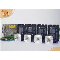 CNC Router kits 4Axis Cnc Nema17 Wantai stepper motor 4000g.cm & 1.7A,12-36VDC,128 Mill driver