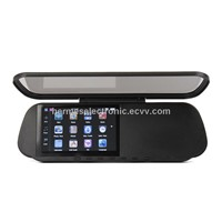 Car Rearview Mirror 5 Inch HD GPS Navigator