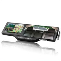 Car Rearview Mirror 5 Inch HD GPS Navigator+ Bluetooth headset+AV 4G install Navitel or IGO