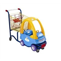 Car shape Kids shopping cart