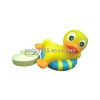 Children's Bathroom Stopper, Made of Soft Vinyl, Lovely Frog Prince Shape Plug with CE-marked