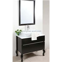 Classical Solid Wood Bathroom Cabinet