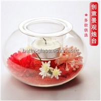 Creative Friend Gift Glass Terrarium Vase Glass Material Candle Holder Lamp Blown Glass Products