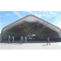 Curved exhibition tent for airport -- Superb Tent Factory