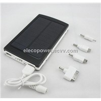 Double USB output 10000 mA portable emergency and standby solar power supply mobile phone charger