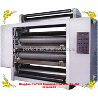 Double layper paper pasting machine, gluing machine