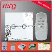 EU Standard home electronic touch tactile switch with remote control, touch glass panel 2 gang