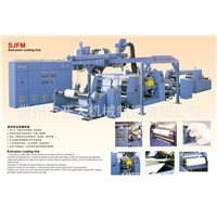 Extrusion coating line