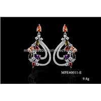 Fashion AAA cubic zircon 925 sterling silver earrings(ME40011)