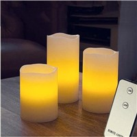 Flameless wax led candle light