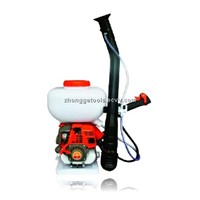 Gasoline power sprayer knapsack type with four stroke engine