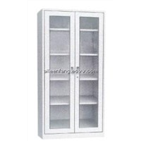 Glass Two Doors Cabinet