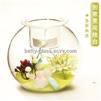 Glass Terrarium Vase Home Decorative Fashion Glass Candle Holder Glass Products China Supplier