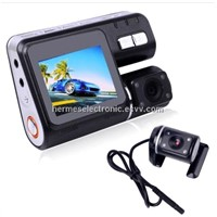 HD Dual Lens 720P DVR Dashboard  DashCam Video Recorder Cam G-sensorHD Dual Lens 720P DVR