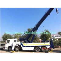HOWO 6x4, Wrecker Truck, Road Obstacle Removing Truck, Loading 30TON with Crane