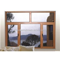 HT50mm aluminum casement windows with high quality