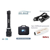 Hi-Max NEW Diving Torch CREE XM-L U2 LED 3000 Lumens Diving Flashlight