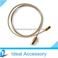 High Qulaity Gold 8 Pin USB Data Cable with Charging & Sync Data Function