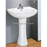 High quality popular fitted bathroom furniture pedestal sink