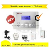 Home Automation GSM Wireless Home Safe Alarm System with French, Spanish, English Voice Prompt