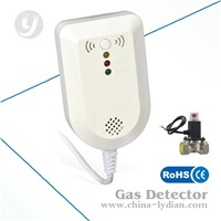 Home LPG Gas Leak Detector with Manipulator,Shut Off Valve Natural Gas Detector