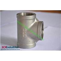 ISO4144 Standard 150lb stainless steel Equal Tee BSP THREAD