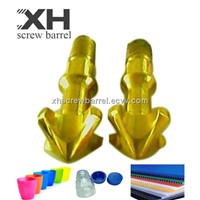Injection screw tips TIN coated