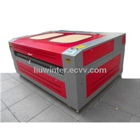 Laser engraving cutting machine with auto roll feeding system for table cloth 1600*1000mm (HQ1610)