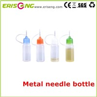 Metal needle bottle for e liquid plastic bottle with metal needle