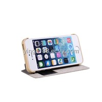 Stand Function Flip Window Case Leather