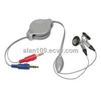 Multimedia retractable headset
