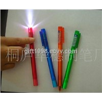 Novelty LED Light Banner Pen For Promotionals