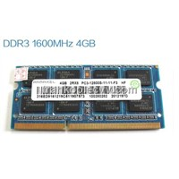 Original DDR3 1600 4G Ram for Notebook use