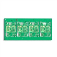PCB with Prototype Quickturns 24 Hours, Green Solder Mask with White Legend