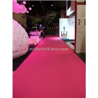 PE non woven red plain exhibition carpet