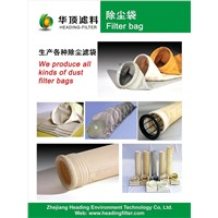PE polyester PTFE membrane coated dust collector bag / filter bag / filter cloth